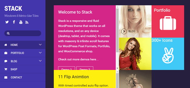 stack themify theme